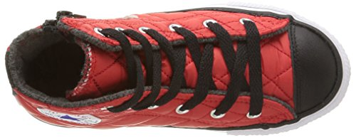 Converse All Star Hi Side Zip Tex - C2 -  para hombre C.Red/Black Quilted
