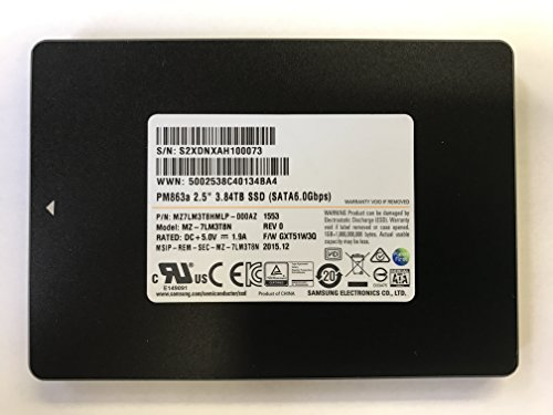 Samsung 3.84 TB Solid State Drive, Internal 2.5 inch, Model: PM863a – OEM