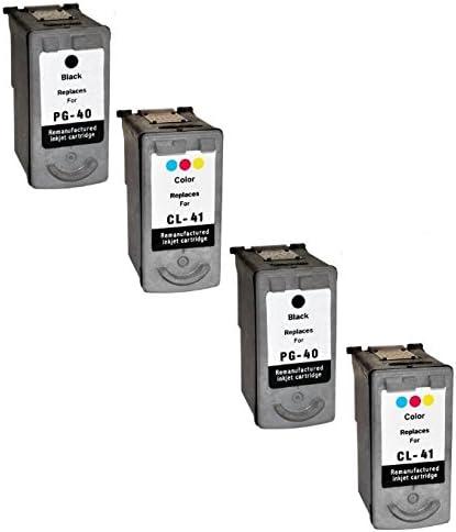 Prestige Cartridge 4 XL Compatibles PG-40 Negro & CL-41 Color Cartuchos de Tinta para Canon Pixma MP140 MP460 iP1800 iP1900 iP2500 iP2600 MP150 MP160 MP170 MP180 MP190 MP210 MP220 | Alta Capacidad: