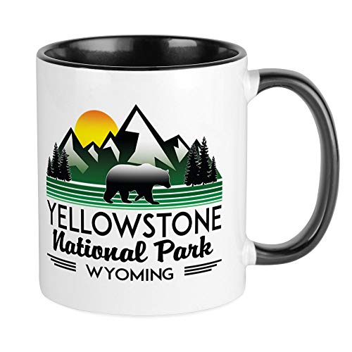 - CafePress YELLOWSTONE NATIONAL PARK WYOMING MOUNTAINS E Mugs Unique Coffee Mug, Coffee Cup