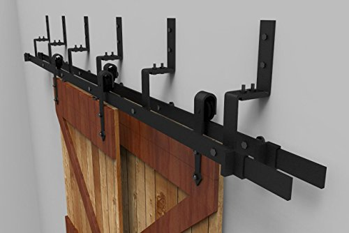 10ft Arrow Shape Bypass Double Sliding Barn Double Door Hardware(10FT Bypass Double Door Kit) by SunGive