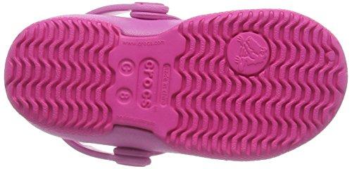 crocs Mädchen Electro Ii Mary Jane Halbschuhe, Neon Magenta Pink Pink (Neon Magenta/Party Pink)