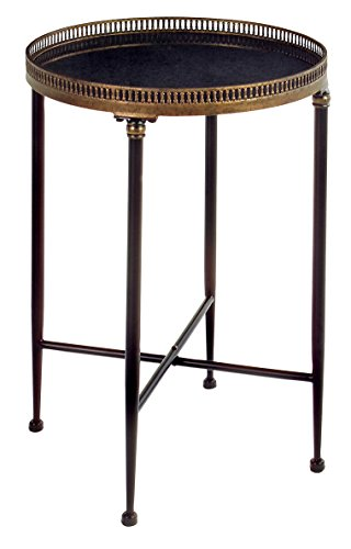 IMAX 12002 Round Black Accent Table