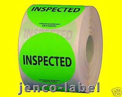 Jenco-Label IC2045G, 500 2'' dia Inspected Label/Sticker by Jenco-Label