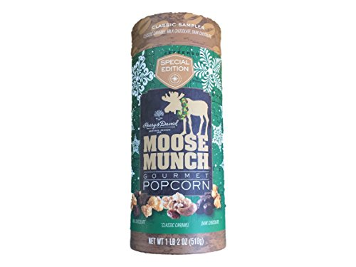 Harry & David Special Edition Classic Sampler Moose Munch Gourmet Popcorn: Caramel, Milk Chocolate, Dark Chocolate 1lb 2 Oz (Moose Sampler)