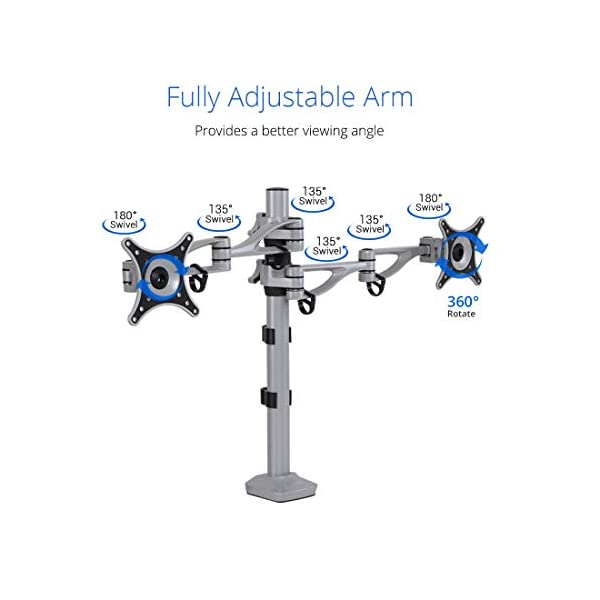 """FLEXIMOUNTS M13 Dual arm LCD arm Desk Mount Monitor Stand Mounts for 10""""-27"""" Samsung/Dell/Asus/Acer/HP/AOC LCD..."""