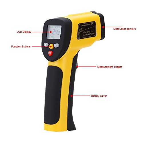 Digital Infrared Thermometer Double Laser High Precision IR Temperature Gauge Tester Pyrometer -50-1050C(-58-1922Fahrenheit) by Digital Infrared Thermometer (Image #2)