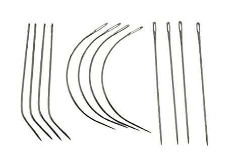 12 Combo Deal C I J Type Weaving Needle Upholstery Carpet Leather Canvas Repair Weaving Curved Needles Pins Hand Sewing Needles