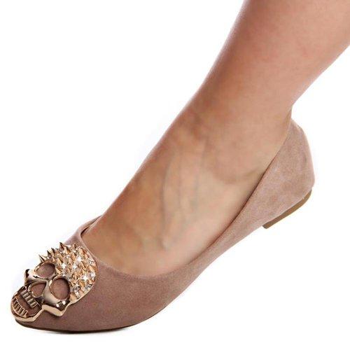 topschuhe24 - Bailarinas para mujer marrón - marrón claro