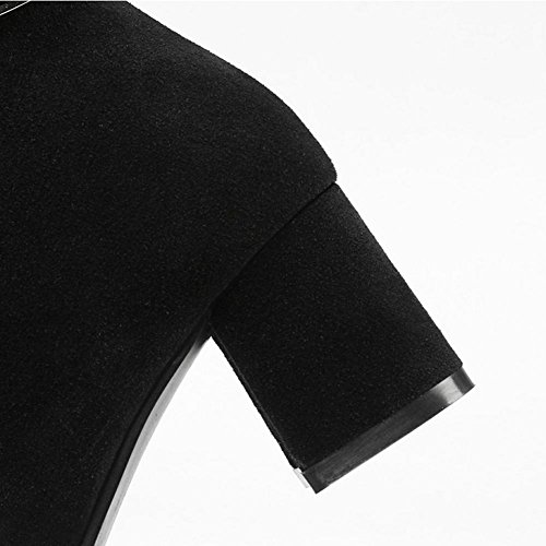 grey antiscivolo Beige fibbia Grigio gomma tacco nero di Belt 41 affilato HQuattro Fashion H stagioni stivali donne 4xwq68ZIU