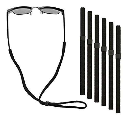 Eyewear Retainer, Universal Fit Rope Eyewear Retainer, Adjustable Sport Unisex Sunglass Retainer Holder Strap, Set of 6 - Sunglasses Chums Floating Strap