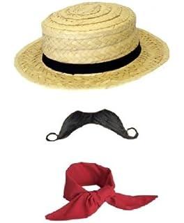 a88dc04afe2 Mens Ladies French Venetian Gondolier Stag Fancy Dress 3 Piece Costume  Accessories Set