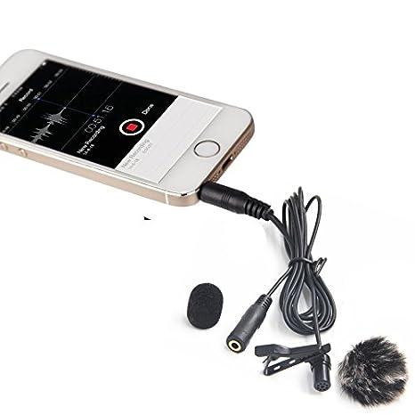 Nicama LVM4 Lavalier Micrófono de Solapa con Parabrisas Muff para Grabación vídeo iPhone Macbook Smartphone YouTube / ENTREVISTA / Conferencia / Podcast: ...