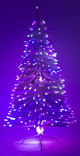4' Ft Fiber Optic White Artificial Holiday Christmas Tree with Stand by Carol Xmas Tree