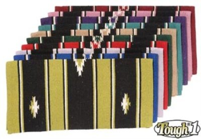 "Tough 1 55% Wool Sierra Saddle Blanket 32""X32"", Hunter/Black/Cream"