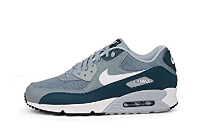 sqguh Nike Air Max 90 Essential Aviator Grey/Space Blue Men\'s Trainer