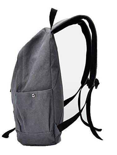Chiaro cerniere VogueZone009 Escursionismo Moda Daypacks Donna Viaggio Zaini Daypack Grigio zw4qwOf