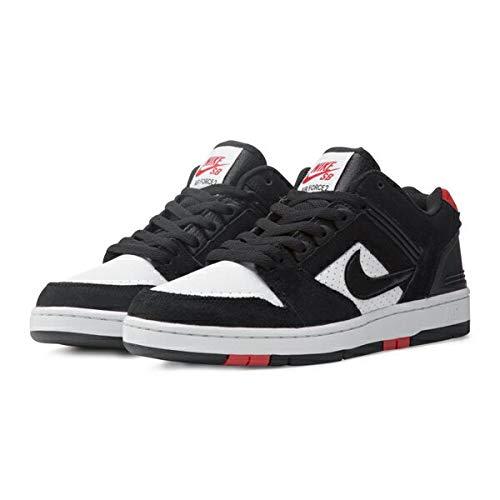 ff9ac8f29c0887 Galleon - NIKE SB AIR Force II Low Mens Skateboarding-Shoes AO0300-006 10.5  - Black Black-White-Habanero RED