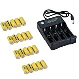 4 Slots Batteries Charger for Netgear Arlo Security Camera - 20 Battery Pack(Yellow)