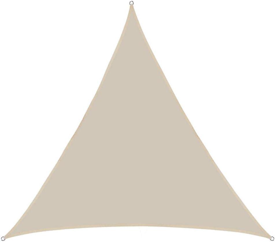 2.4 * 2.4 * 2.4m Panno per Protezione Solare, Tenda per Esterno Impermeabile a Triangolo Vela-Grigio Scuro,Quadrata a Vela Telo da Sole da Esterno Fluorescent Yellow
