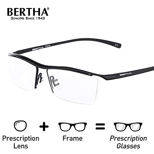aceb416971 Bertha Men Semi-Rimless Eyeglasses