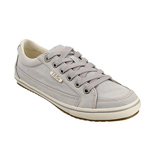 Taos Footwear Women's Moc Star Light Grey Distressed Sneaker 8.5 W US ()
