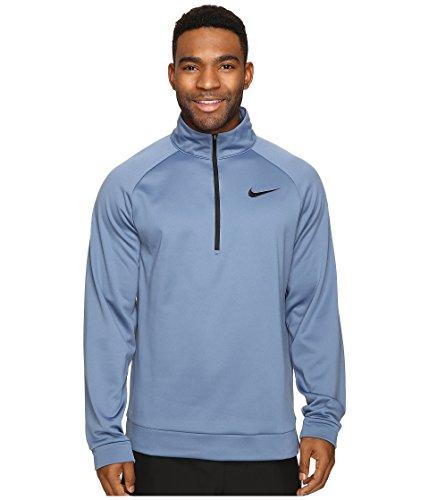 Nike Therma 1/4 Zip Pullover Ocean Fog/Black Men's Clothing