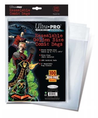 Ultra Pro Resealable Comic Bags (Bag of 100) Golden Age Size