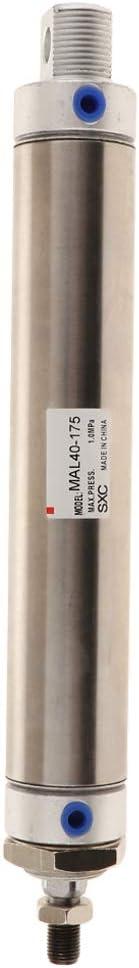 Pneumatik Luftzylinder Pneumatikzylinder Druckluftzylinder mit Doppeltwirkendem MA40x100 aus Edelstahl