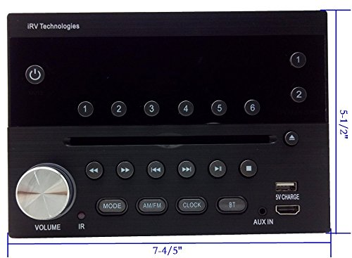 IRV Technology IRV31 Am/FM/CD/DVD Rv Radio Stereo 2 Zones Wa