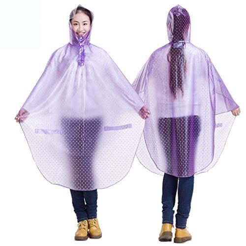 Casual Adultos Ciclismo Lluvia Sudadera Poncho Moda Mujer Chaqueta Para 6 Impermeable Capucha Con Impresión Sólido Color Transparente qCRtwE5vx