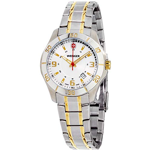 Wenger Alpine White Dial Stainless Steel Ladies Watch 70496 (Ladies Two Tone White Dial)