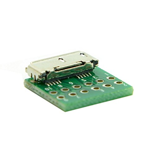 YOUKITTY 10pcs Micro USB 3.0 10pin Female Socket Receptacle Board Mount SMT Type with PCB for DIY Cable