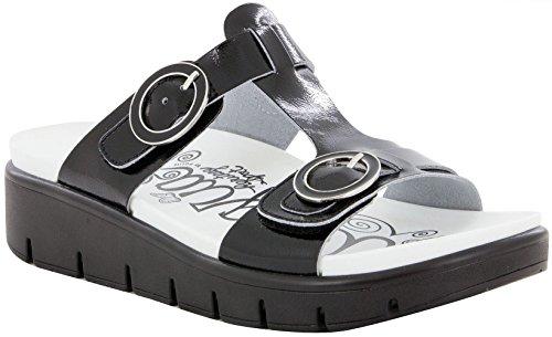 Alegria Womens Vita Sandal, Black Patent, Size 39 EU (9 M US Women)