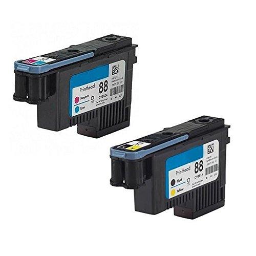 C9381a Printhead - YATUNINK Remanufactured 88 Printhead BK/Y (C9381A) C/M (C9382A) Twin Pack 88XL 88 Printer