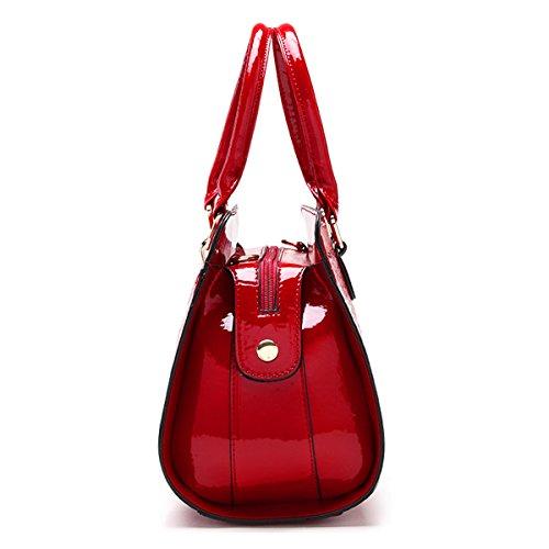 Profundo Moda Rojo Rosado Messenger Bolso twqRRxW0FY