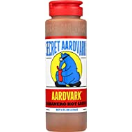 Secret Aardvark Habanero Hot Sauce | Made with Habanero Peppers & Roasted Tomatoes | Non-GMO, Low Sugar, Low Carb | Awesome Hot Sauce & Marinade 8 oz