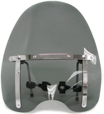7BLACKSMITHS Universal Motorcycle Windshield 17 x 16 Clear Large Windscreen Fit for Harley Yamaha Honda Bikes with 7//8 or 1 Handle Bars.