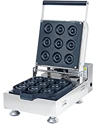 NP 922 Commercial Electric Japanese Doughnut Donut Baker Waffle Machine Maker Making Machine Non Stick 9 Pieces 220V