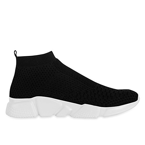 YALOX Men's Walking Shoes Lightweight Slip On Sneakers Fashion Casual Breathable Athletic Running Shoes(42EU,Black-2) by YALOX (Image #5)