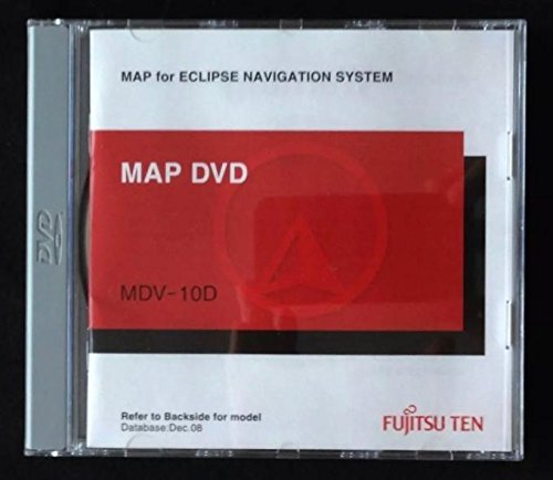 ECLIPSE MDV-10D Ver 2.4 Navigation DVD Map Update Disc for only these Eclipse Indash AVN Units: 20D/30D/2454/5435/5500/6600 by Eclipse Fujitsu Ten