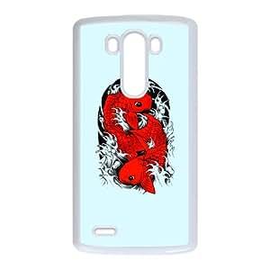 LG G3 Cell Phone Case White Koi Carp Japanese fish WXG Create a Phone Case