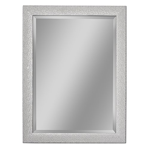 Headwest 8015 Squares Wall Mirror, White and Chrome by Head West