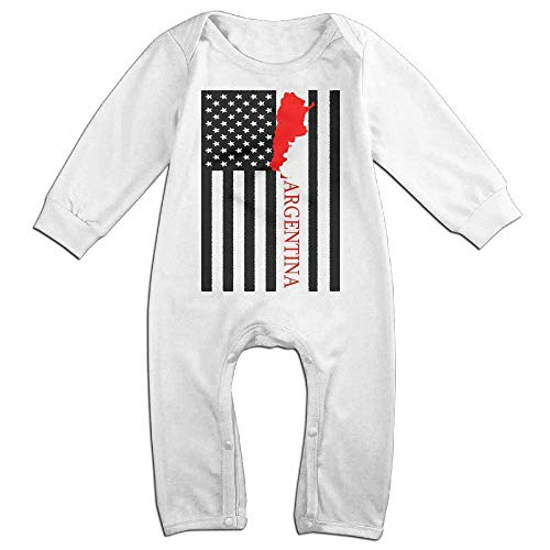 Price comparison product image PMsunglasses American Flag Argentina Map Long Sleeve Baby Romper Jumpsuit Onsies Bodysuit White
