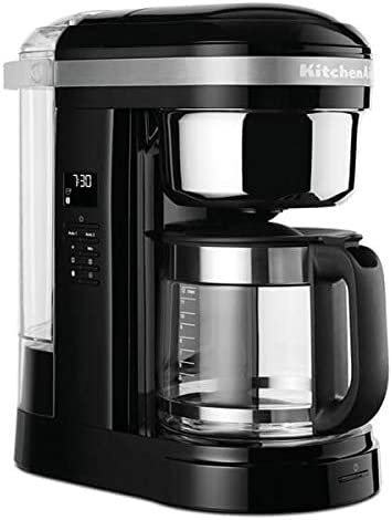 KitchenAid - Cafetera de goteo (12 tazas), color negro: Amazon.es ...