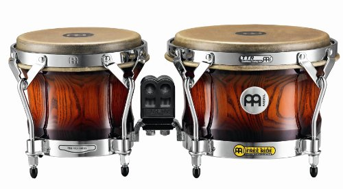 Meinl Percussion WB500AMB Free Ride Series Woodcraft Bongos, Antique Mahogany (Seated Bongo Stand)