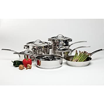 Gordon Ramsay by Royal Doulton 42285911a Maze 11-Piece Cookware Set with Bonus Egg Poacher by Gordon Ramsay: Amazon.es: Hogar