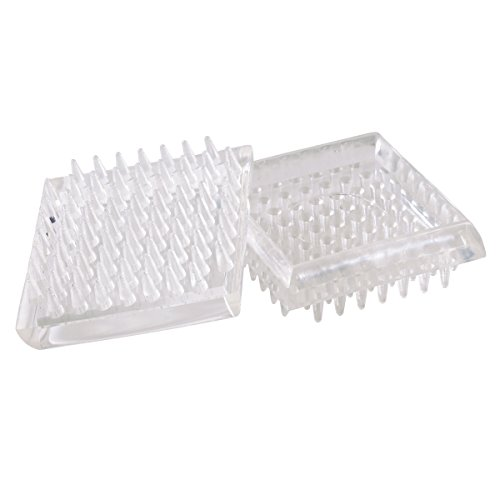 Carpet Caster Cups (Shepherd Hardware 9083 1-7/8-Inch Spiked Furniture Cup, Clear Plastic,)