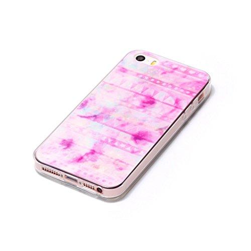 iPhone 6 / 6S Custodia , Leiai Moda Rosa Nuvola Silicone Morbido TPU Cover Case Custodia per Apple iPhone 6 / 6S