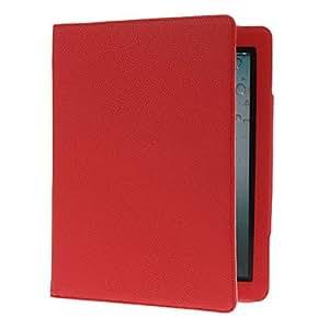conseguir Sueño auto y despierta Diseñado PU caso completo del cuerpo con el soporte para iPad 2/3/4 (colores surtidos) , Rojo